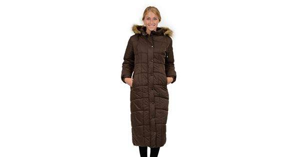 Women S Excelled Hooded Long Puffer Coat