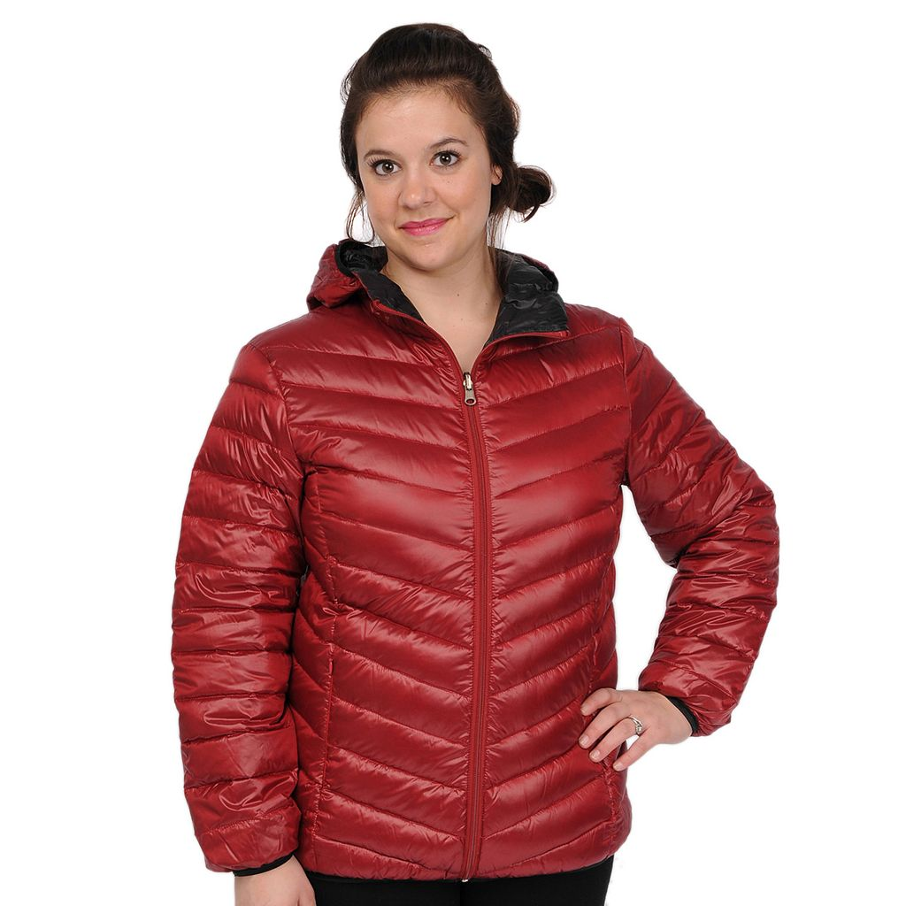 Plus Size Excelled Hooded Puffer Packable Jacket