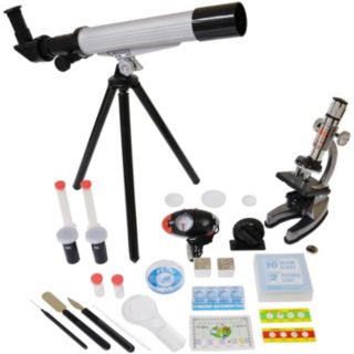 Microscope and Telescope Set with Survival Kit