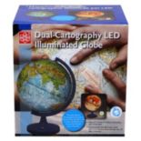 "11"" Dual Cartography Illuminated Globe"