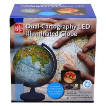 "11"" Dual Cartography Illuminated Globe"
