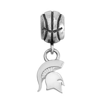 Dayna U Sterling Silver Michigan State Spartans Team Logo Basketball Charm