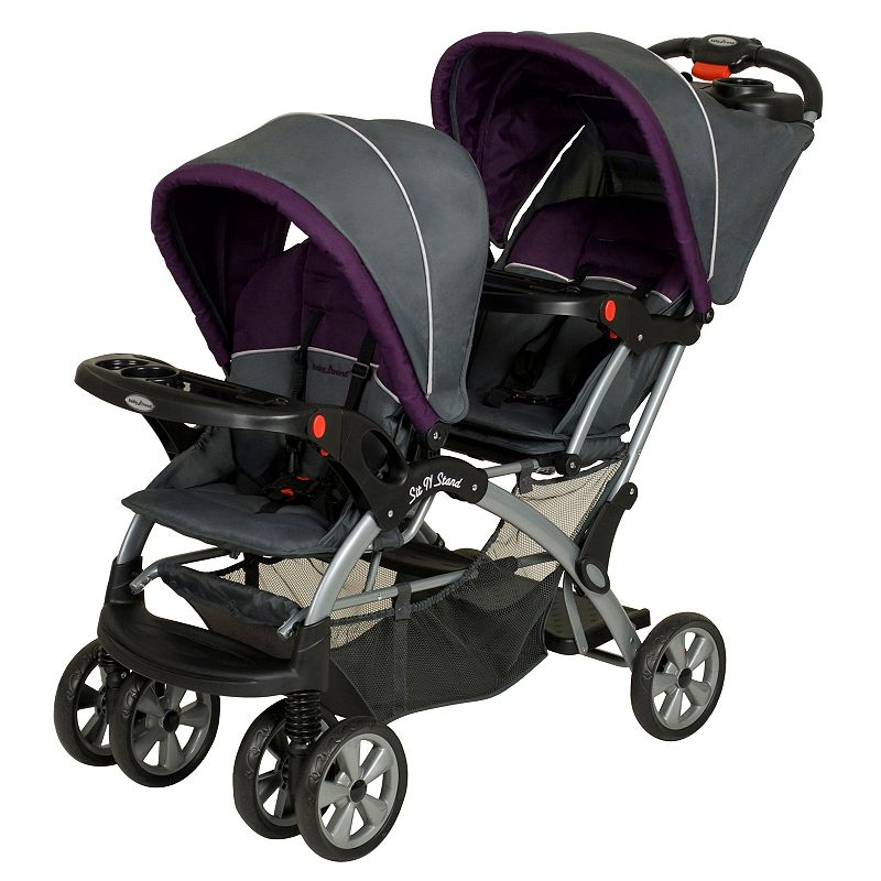 Baby Trend Sit 'N Stand Double Stroller, Grey