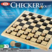 Ideal Checker It Out! Wooden Checker Game