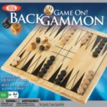 Ideal Game On! Wooden Backgammon Set