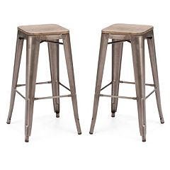 Zuo Modern 2 pc Marius Brown Bar Stool Set