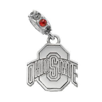 Dayna U Ohio State Buckeyes Crystal Sterling Silver Logo Charm