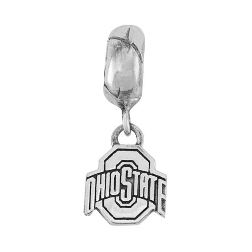Dayna U Sterling Silver Ohio State Buckeyes  Logo Charm