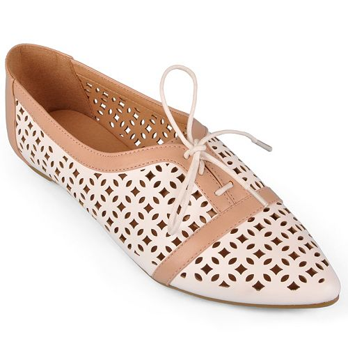 Journee Collection Object Cutout Oxford Shoes - Women