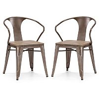 Zuo Modern Helix 2-pc. Rustic Wood Chair Set