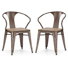 Zuo Modern Helix 2 pc Rustic Wood Chair Set