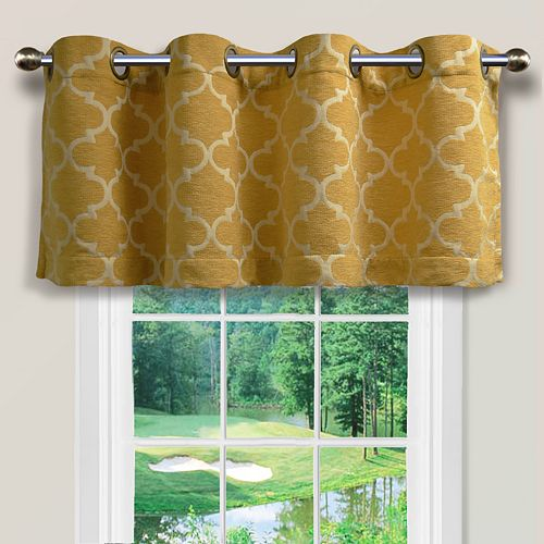 "Spencer Home Decor Club Lattice Window Valance - 54"" x 16"""