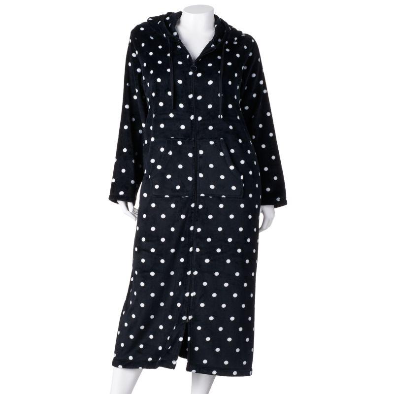 SONOMA life + style Printed Plush Hooded Robe - Women's Plus Size