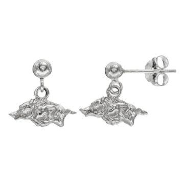 Dayna U Arkansas Razorbacks Sterling Silver Drop Earrings