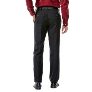 Men's Haggar® Tailored-Fit Solid Black Flat-Front Suit Pants