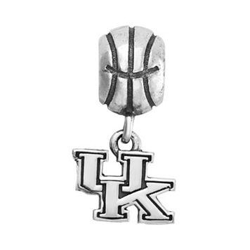 Dayna U Sterling Silver Kentucky Wildcats Team Logo Basketball Charm