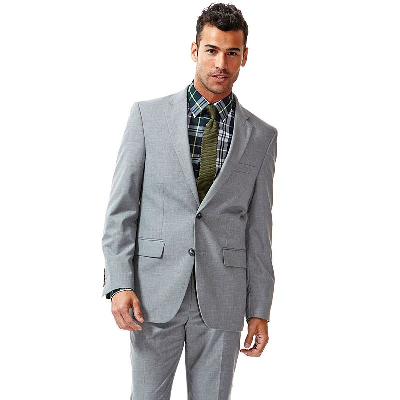 Haggar® Straight-Fit Heathered Light Gray Suit Jacket - Men