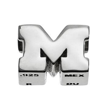 Dayna U Michigan Wolverines Sterling Silver Logo Bead