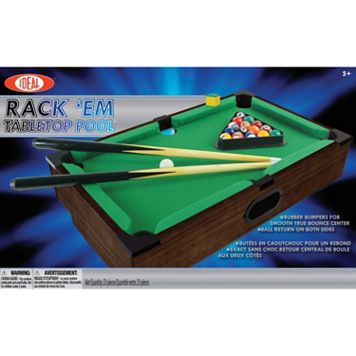 Ideal Rack 'Em Portable Tabletop Pool Game