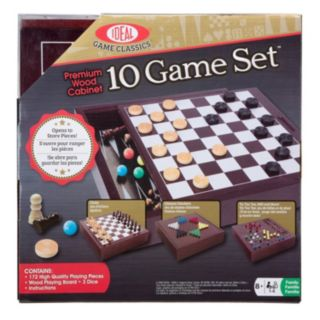 Ideal Premium Wood Classic 10-Game Board Set