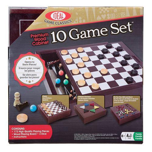 Ideal Premium Wood Classic 10 Game Board Set