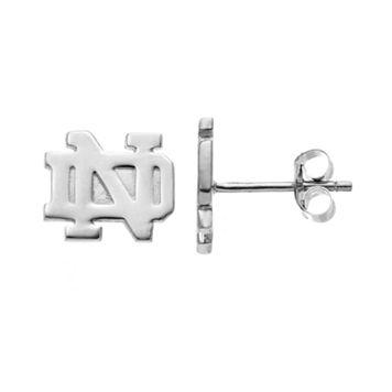 Dayna U Notre Dame Fighting Irish Sterling Silver Logo Stud Earrings