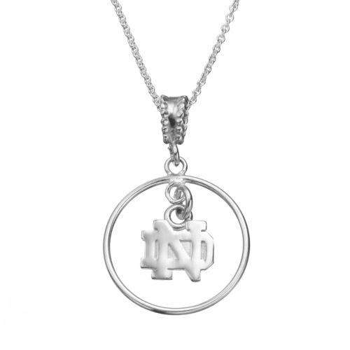Dayna U Notre Dame Fighting Irish Sterling Silver Logo Pendant Necklace