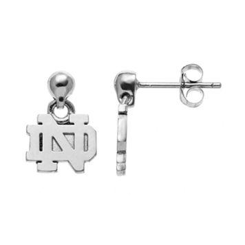 Dayna U Notre Dame Fighting Irish Sterling Silver Drop Earrings