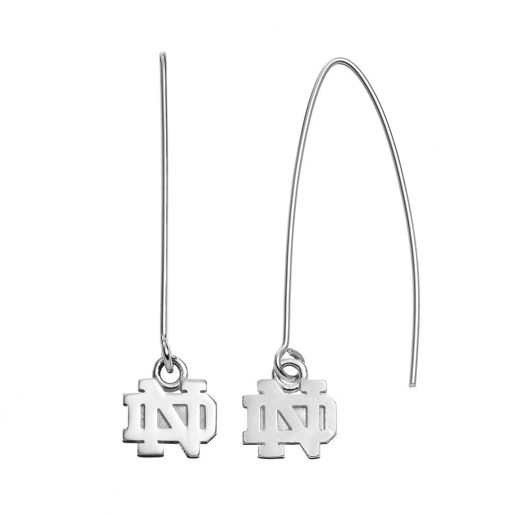 Dayna U Notre Dame Fighting Irish Sterling Silver Threader Earrings