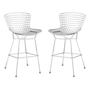 Zuo Modern 2-pc. Chrome Wire Bar Chair Set