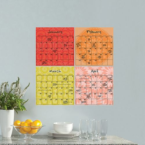 WallPops Carnival茅 Dry Erase Calendar Set Decals