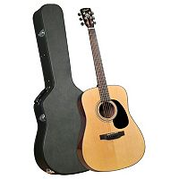 Bristol Dreadnaught Acoustic Guitar with Case