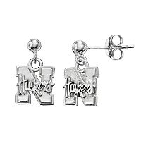 Dayna U Nebraska Cornhuskers Sterling Silver Drop Earrings