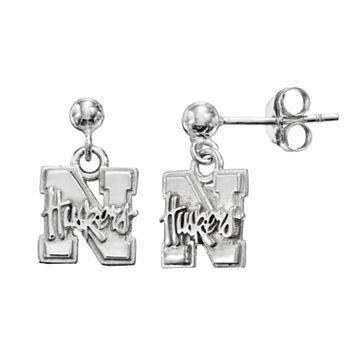 Dayna U Nebraska Cornhuskers Sterling Silver Drop Earrings