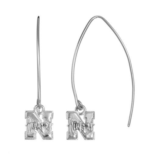 Dayna U Nebraska Cornhuskers Sterling Silver Hook Earrings