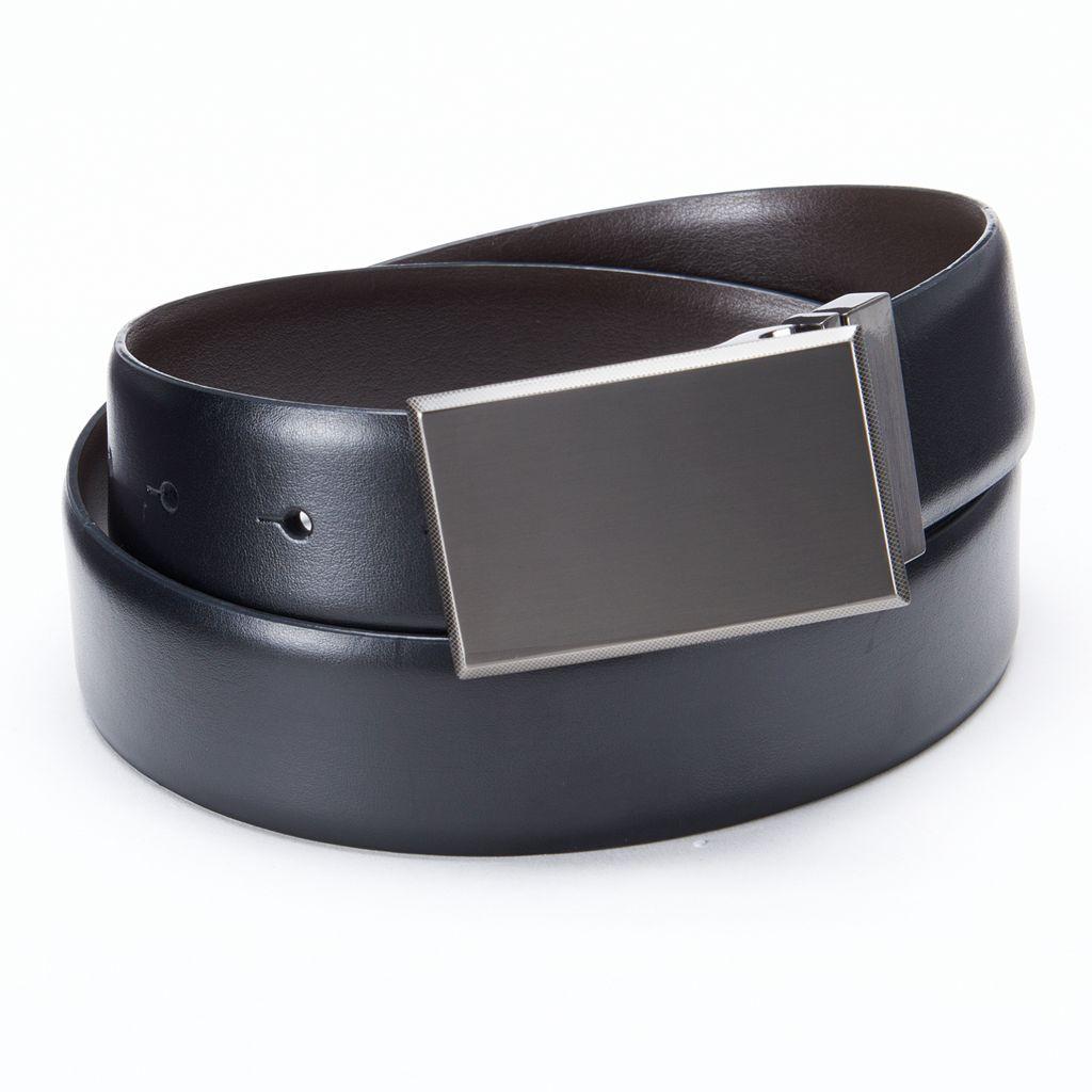 Apt. 9® Pattern Plaque Reversible Leather Belt - Men
