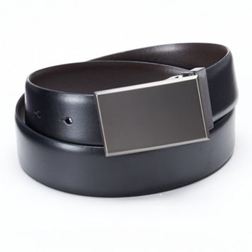 Apt. 9® Pattern Plaque Reversible Leather Belt - Men