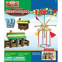 Ideal 143 pc Frontier Logs & Fiddlestix Wood Construction Combo Box