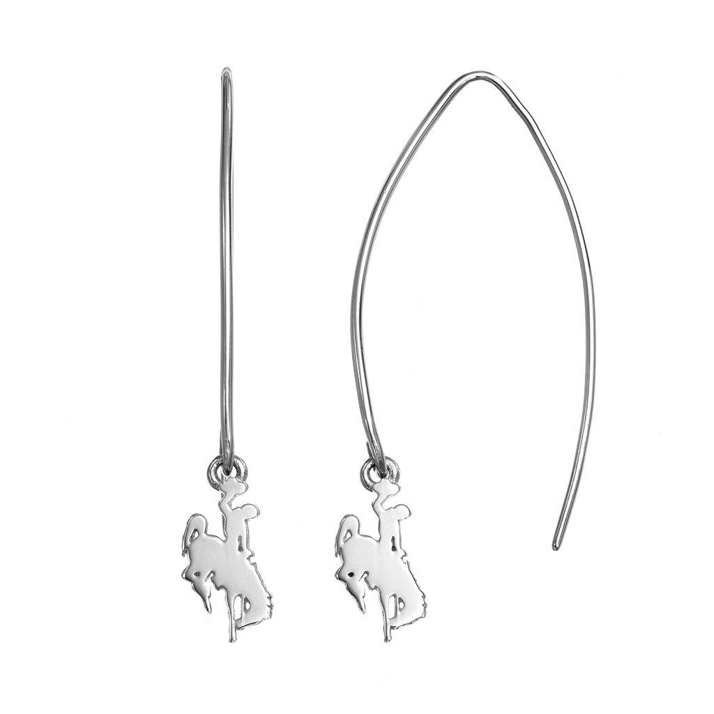 Dayna U Wyoming Cowboys Sterling Silver Hook Earrings