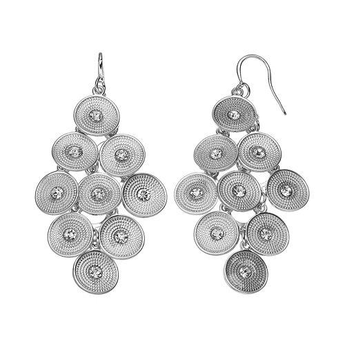 Jennifer Lopez Textured Disc Kite Earrings