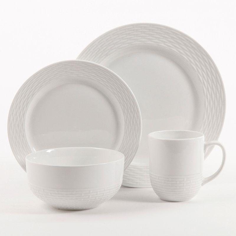 Food Network™ Basketweave 16-pc. Porcelain Dinnerware Set