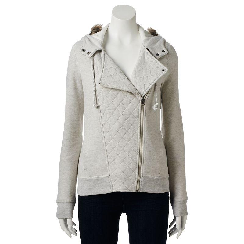 SO® Asymmetrical Fleece Outerwear - Juniors