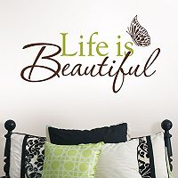 WallPops Life is Beautiful Wall Decal