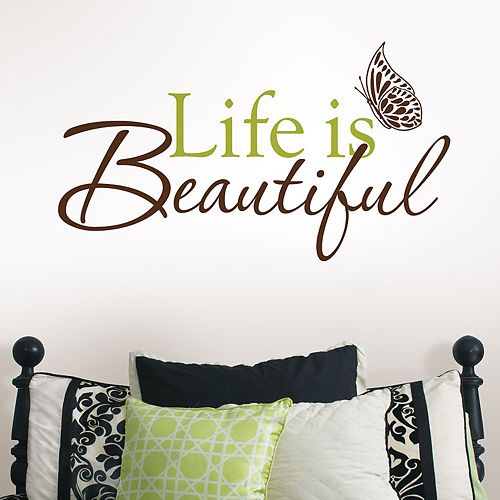 WallPops Life is Beautiful Wall Decal
