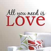 WallPops All You Need is Love Wall Decal