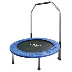 Pure Fun 40-in. Mini Trampoline with Rail