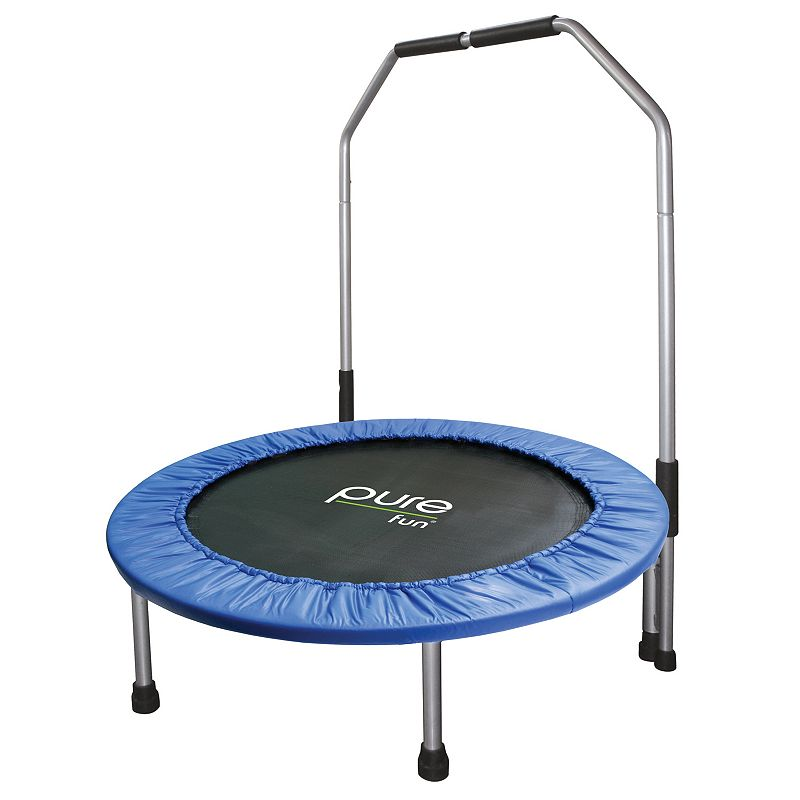 Pure Fun 40-in. Mini Trampoline with Rail, Multicolor