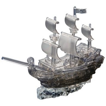 3D Crystal 101-pc. Pirate Ship Puzzle by BePuzzled