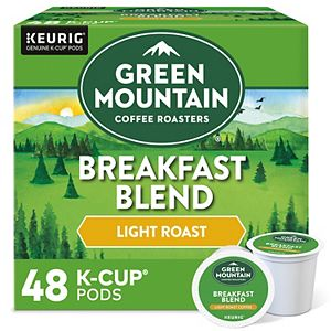 Green Mountain Coffee Breakfast Blend Coffee, Keurig® K-Cup® Pods, Light Roast - 48-pk.