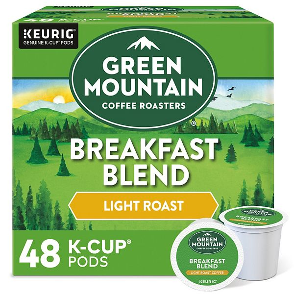 48-Count Green Mountain Coffee Light Roast Breakfast Blend K-Cup Pods